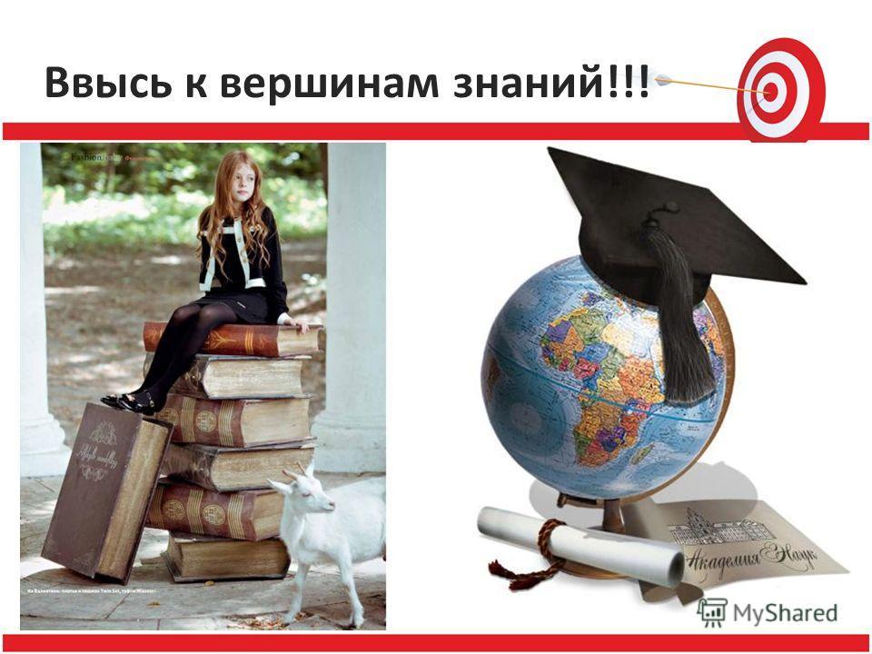 Ввысь к вершинам знаний!!!