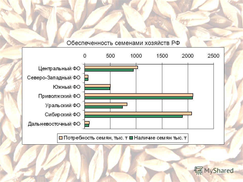 Обеспеченность семенами хозяйств РФ
