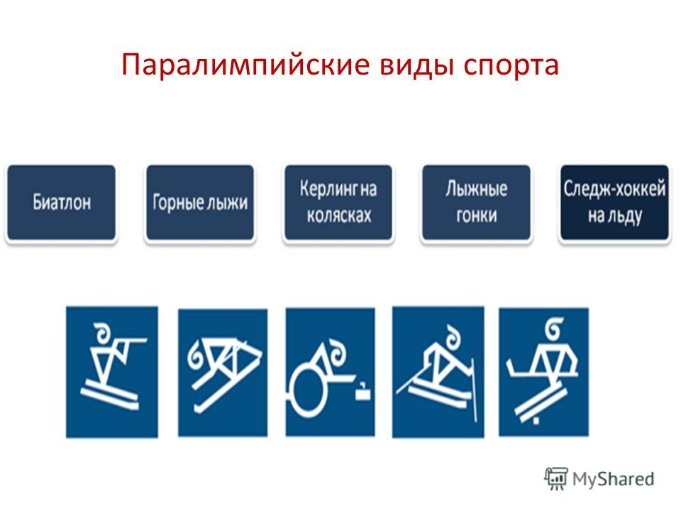 Паралимпийские виды спорта