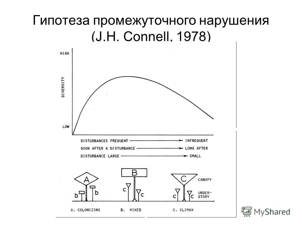 Гипотеза промежуточного нарушения (J.H. Connell, 1978)