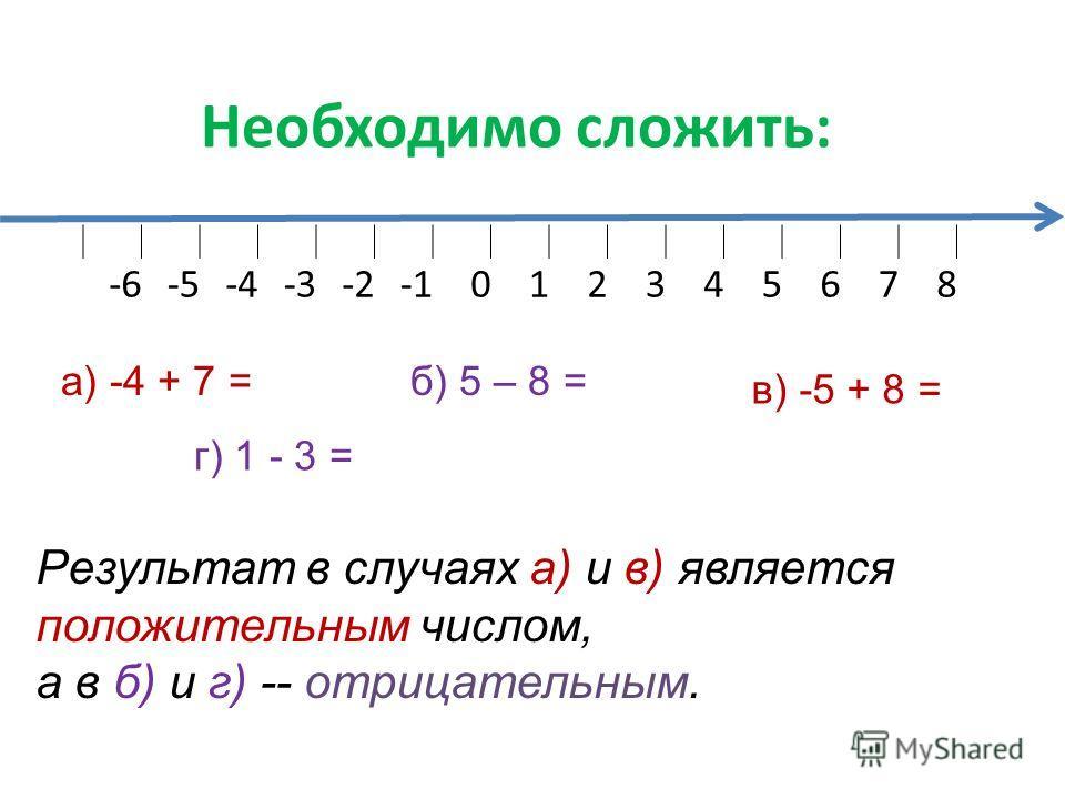 Сегодня на уроке мы познакомимся с правилом сложения чисел с разными знаками с помощью понятия «модуль». Будем учиться складывать числа с разными знаками.