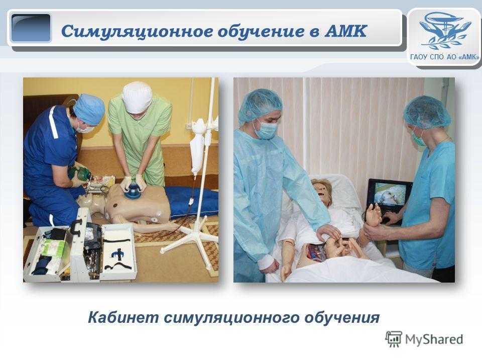 ГАОУ СПО АО «АМК» Симуляционное обучение в АМК Кабинет симуляционного обучения
