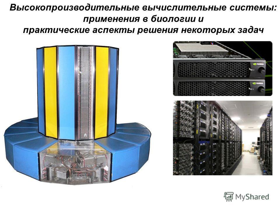 Высокопроизводительные вычислительные системы: применения в биологии и практические аспекты решения некоторых задач
