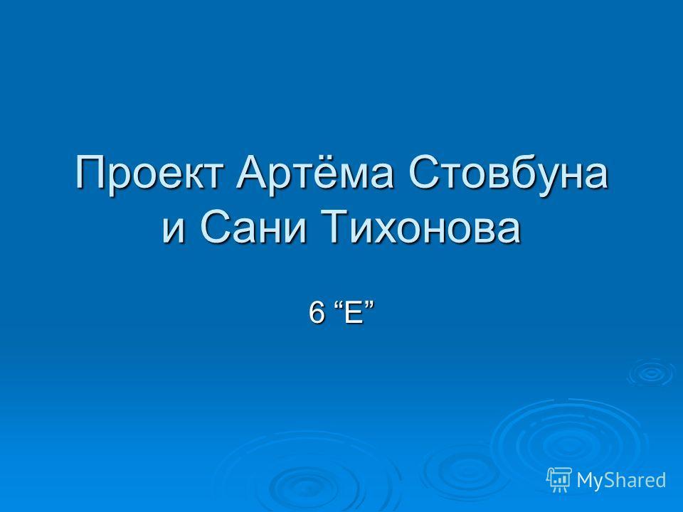 Проект Артёма Стовбуна и Сани Тихонова 6 E