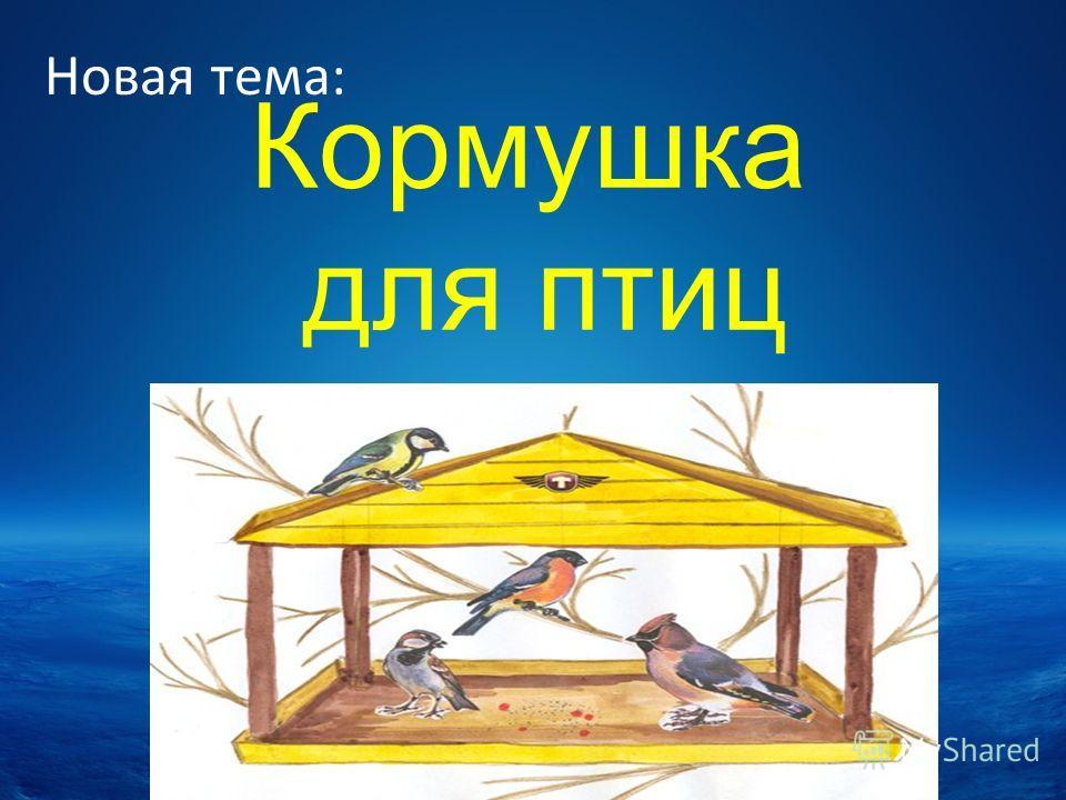Кормушка для птиц Новая тема: