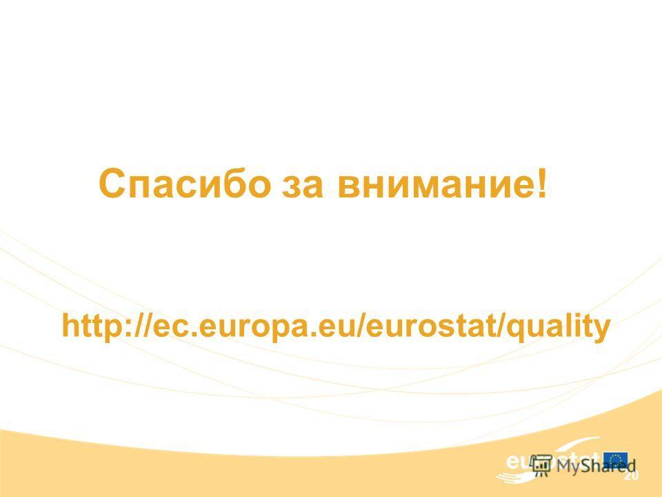 20 Спасибо за внимание! http://ec.europa.eu/eurostat/quality
