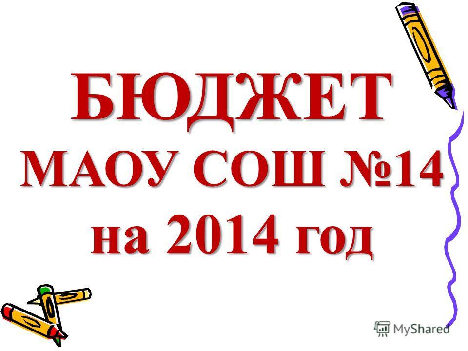 БЮДЖЕТ МАОУ СОШ 14 на 2014 год