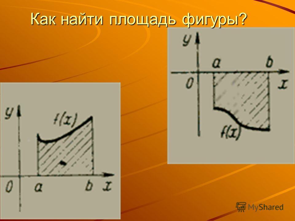 Как найти площадь фигуры?