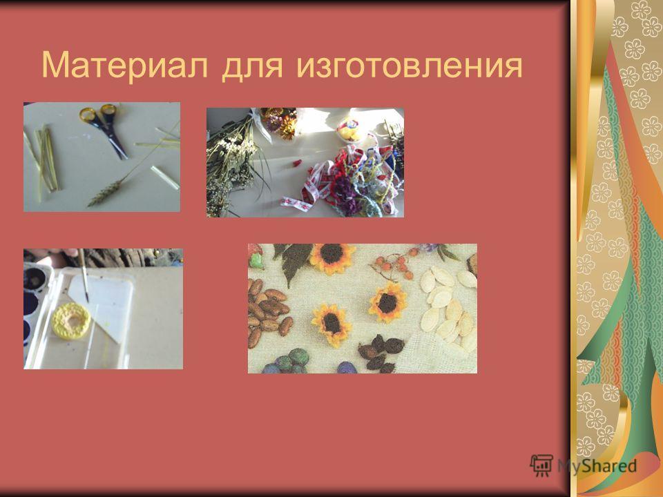 Материал для изготовления