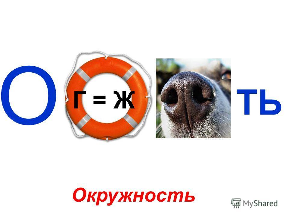 О Г = Ж ТЬ Окружность