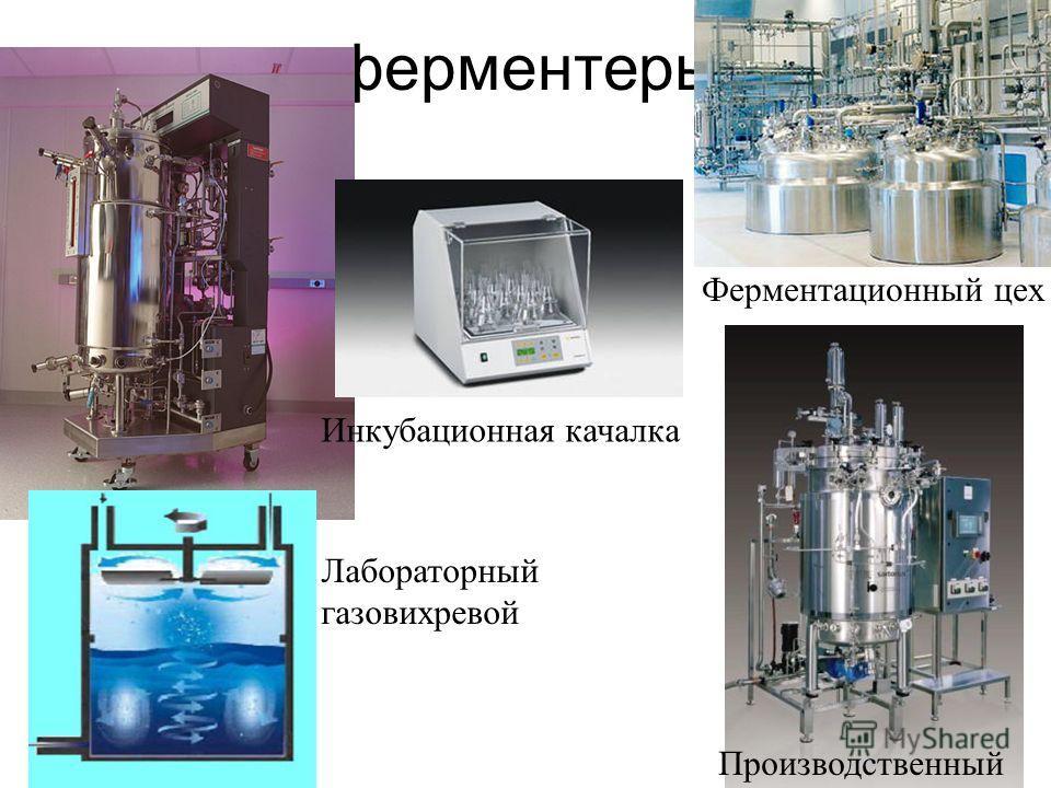 ферментеры Лабораторный газовихревой Инкубационная качалка Ферментационный цех Производственный