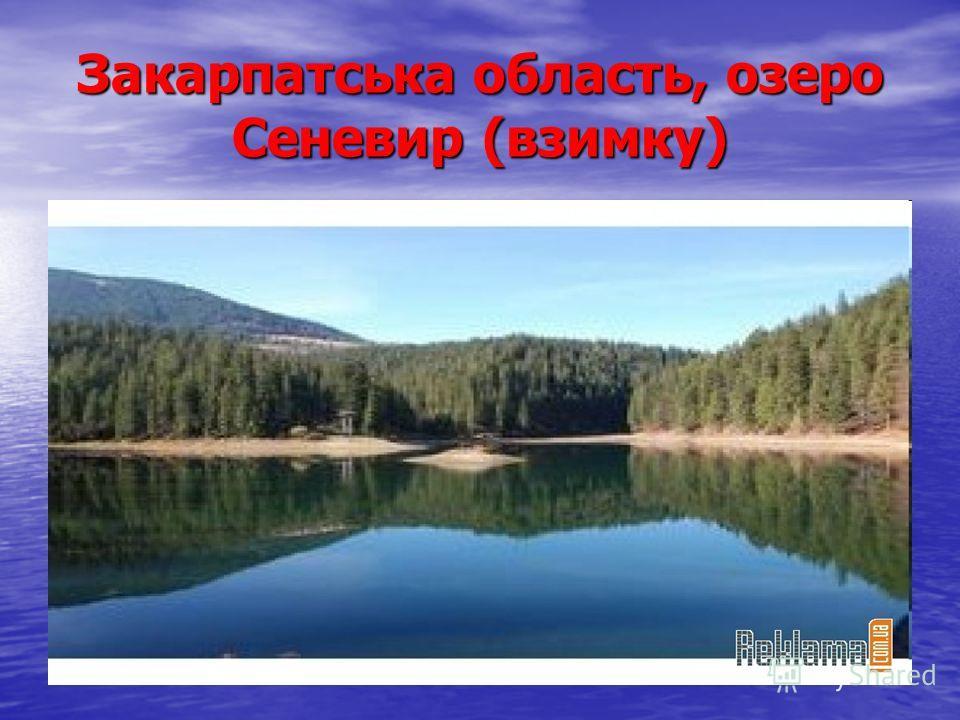 Закарпатська область, озеро Сеневир (взимку)