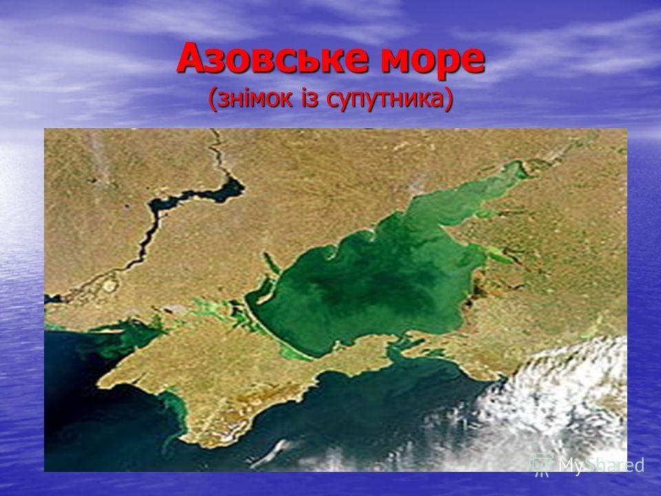Азовське море (знімок із супутника)