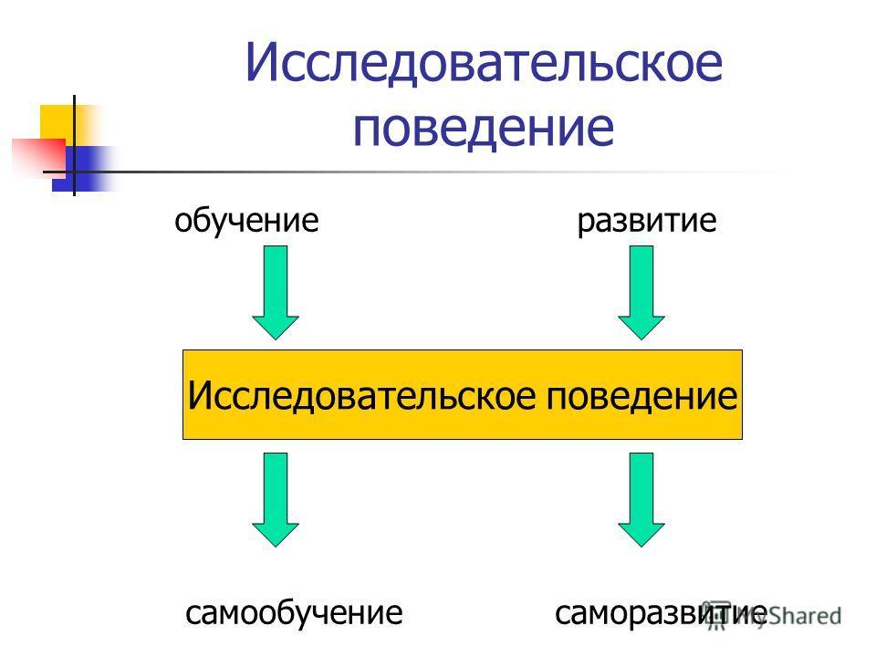 Исследовательское поведение обучение развитие самообучение саморазвитие Исследовательское поведение