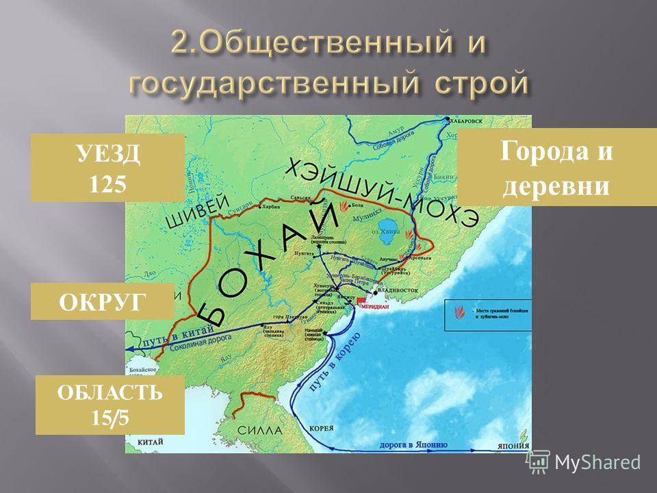 УЕЗД 125 Города и деревни ОКРУГ ОБЛАСТЬ 15/5