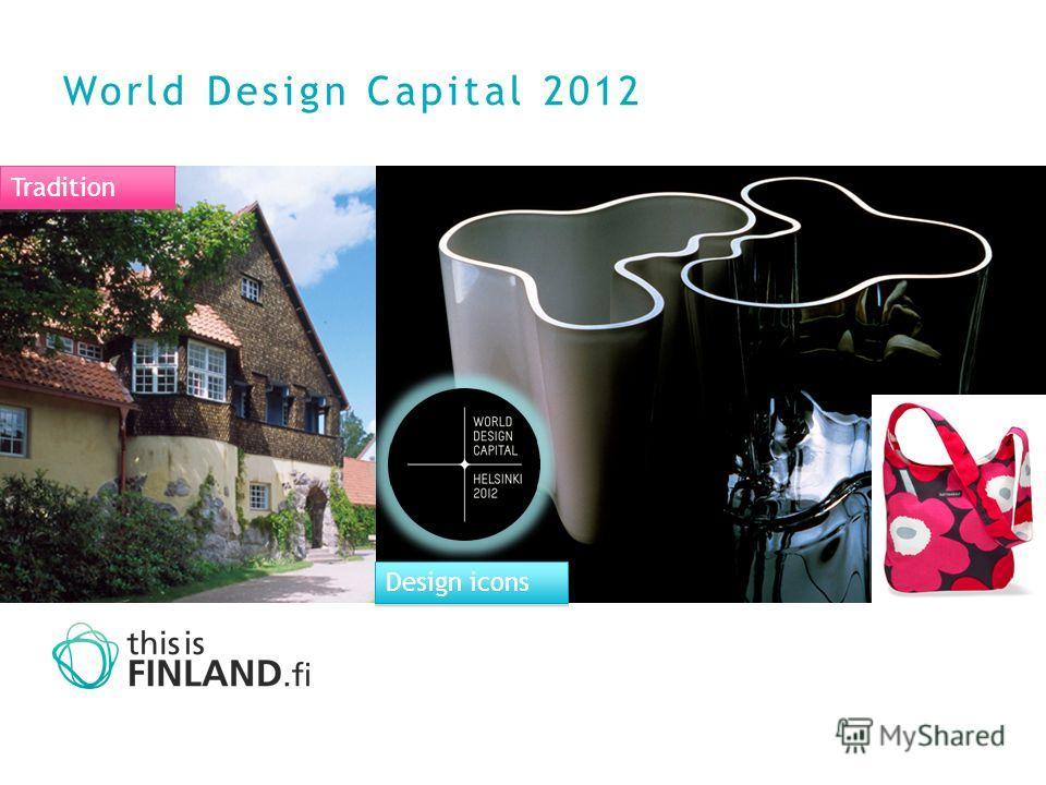World Design Capital 2012 Tradition Design icons
