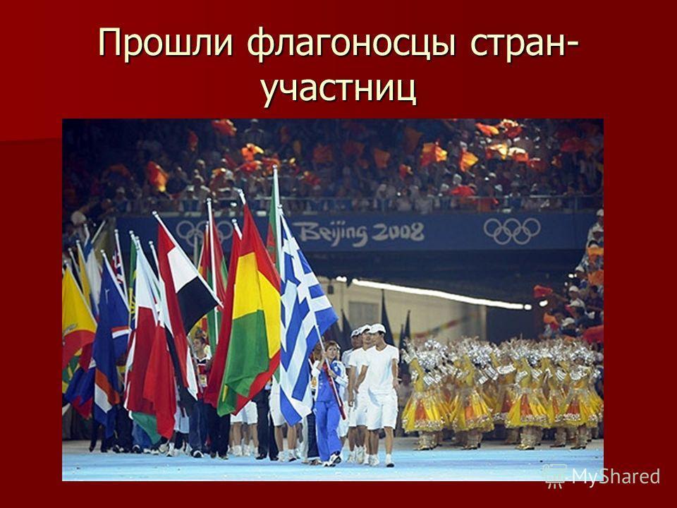 Прошли флагоносцы стран- участниц