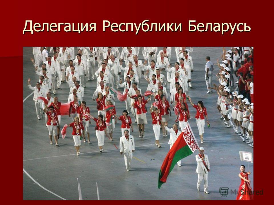 Делегация Республики Беларусь