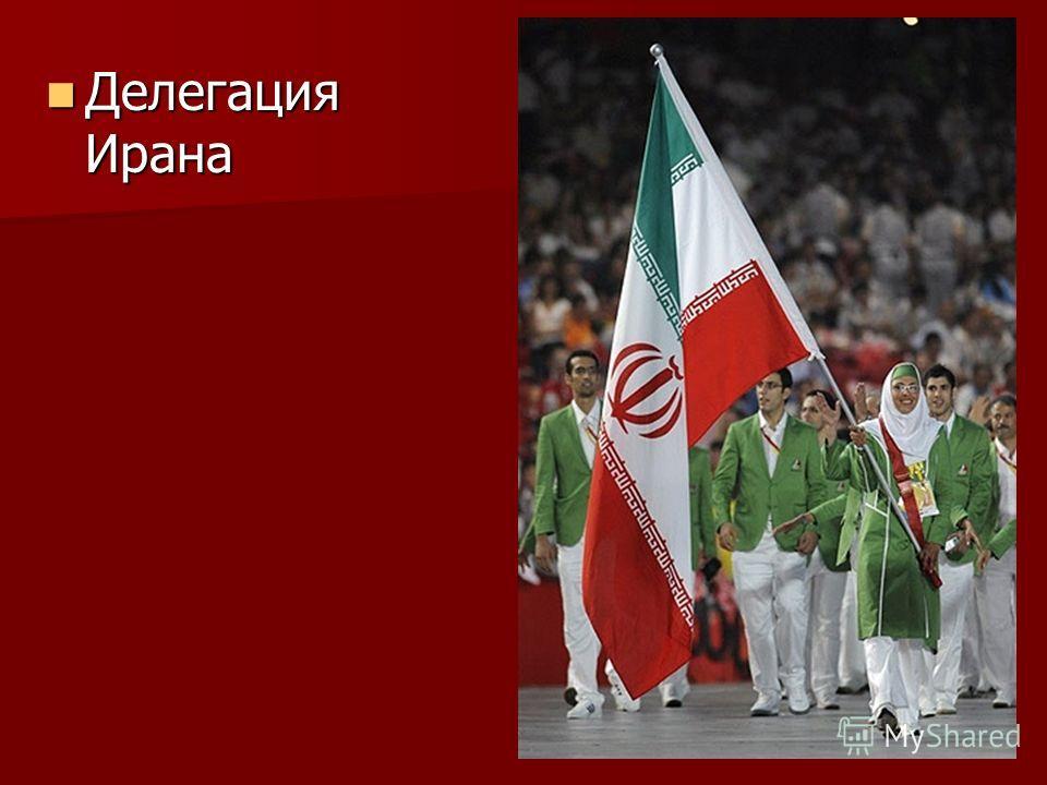 Делегация Ирана Делегация Ирана