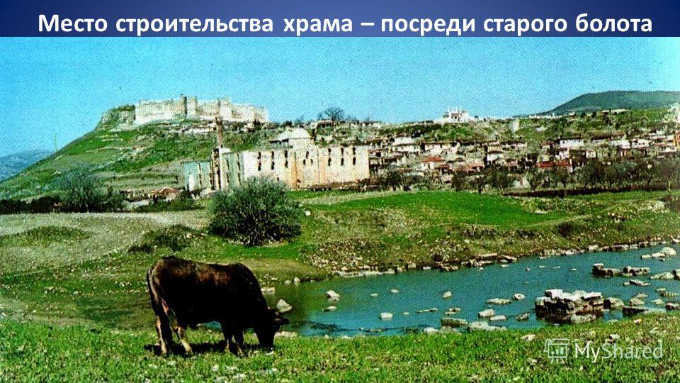 Место строительства храма – посреди старого болота