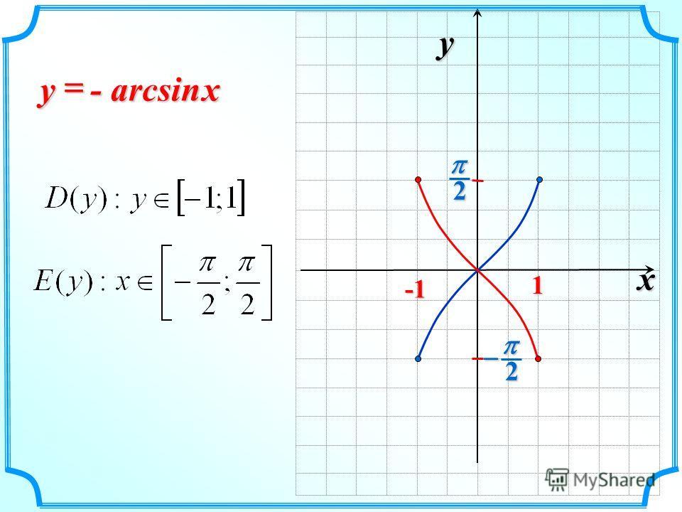 x y 2 2 1 - arcsin xy
