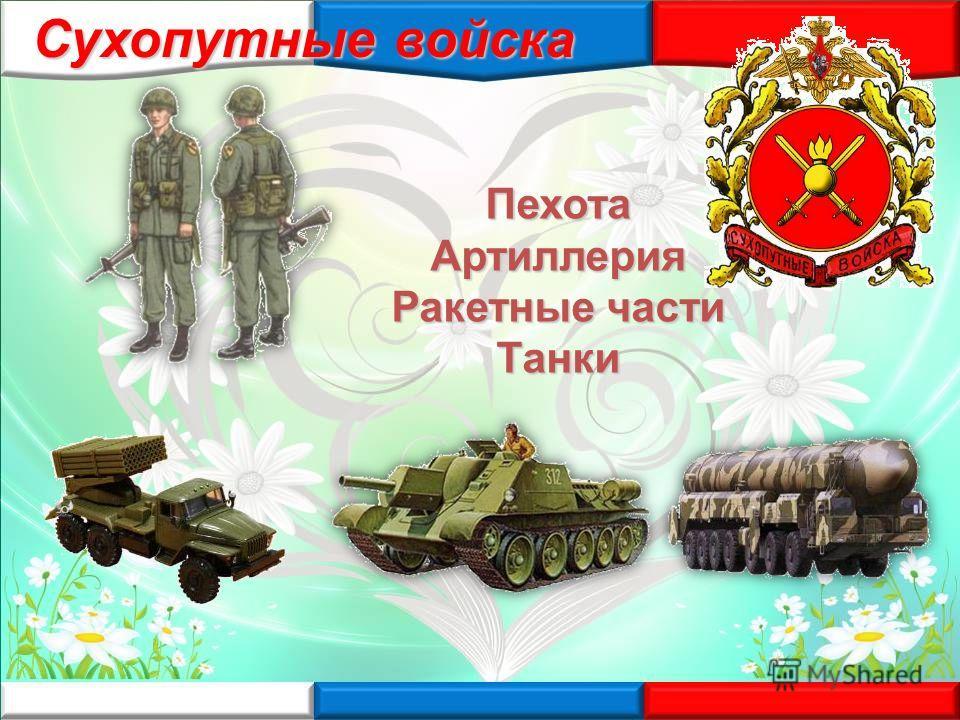 ПехотаАртиллерия Ракетные части Танки Сухопутные войска