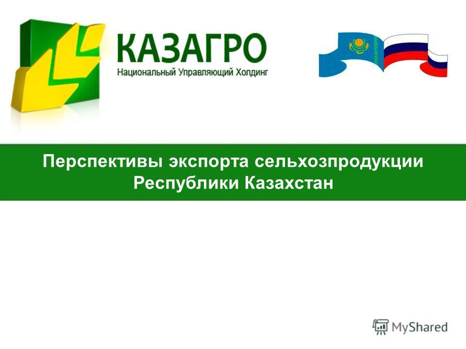 Перспективы экспорта сельхозпродукции Республики Казахстан