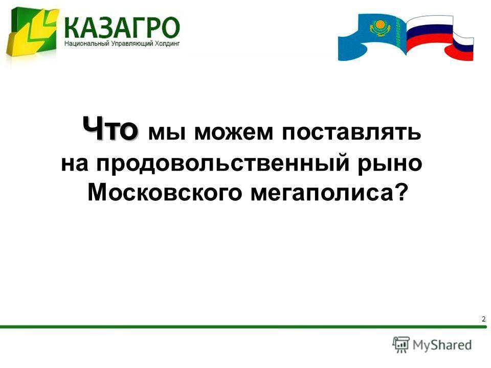 2 Что Что мы можем поставлять на продовольственный рынок Московского мегаполиса?