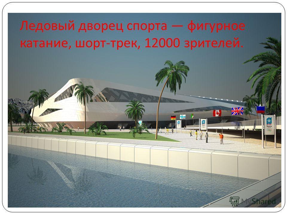 Ледовый дворец спорта фигурное катание, шорт - трек, 12000 зрителей.