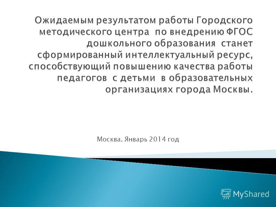 Москва. Январь 2014 год