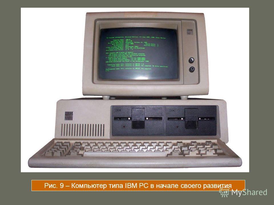 Рис. 9 – Компьютер типа IBM PC в начале своего развития