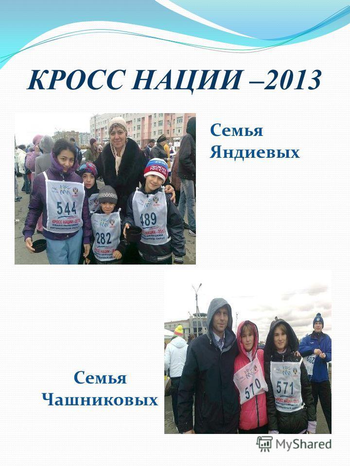 КРОСС НАЦИИ –2013 Семья Яндиевых Семья Чашниковых