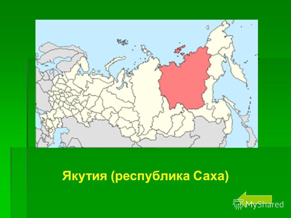 Назовите самый большой по площади субъект Российской Федерации. Якутия (республика Саха)