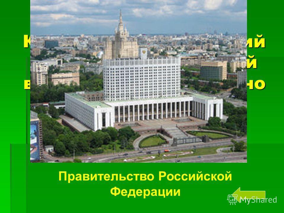 Как называется высший орган исполнительной власти России согласно Конституции РФ. Правительство Российской Федерации
