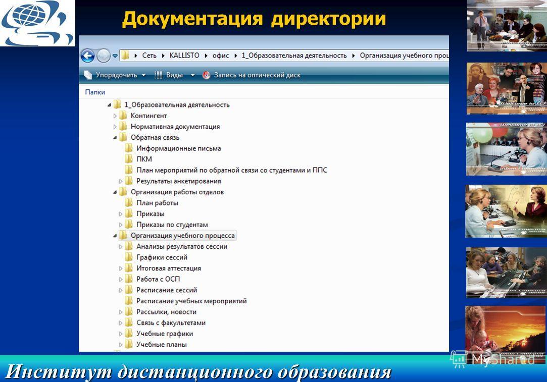 Институт дистанционного образования Документация директории