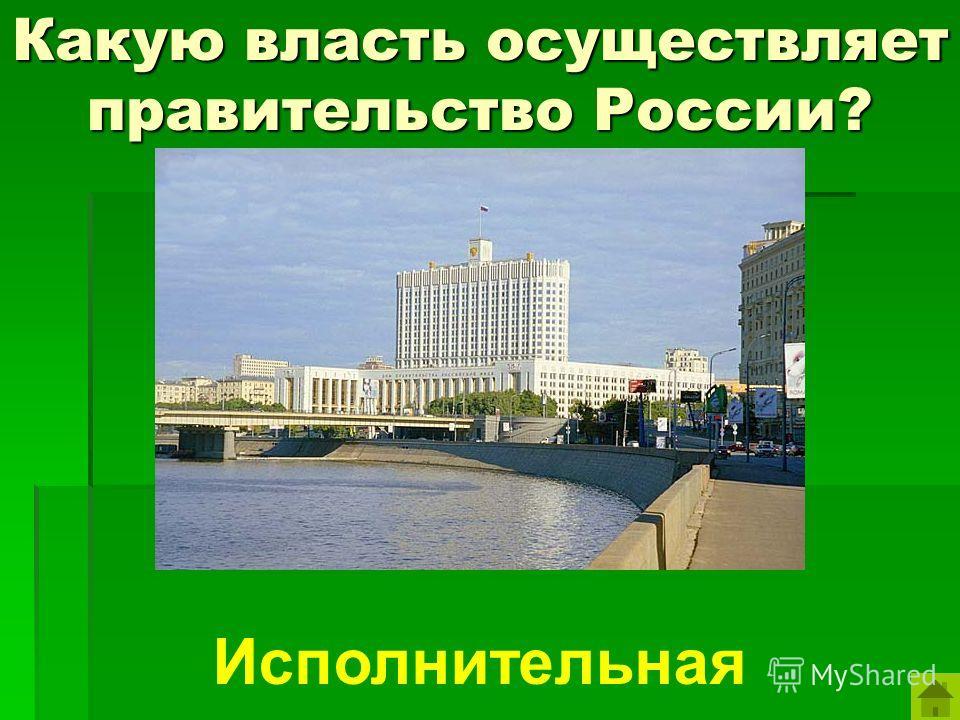 Какую власть осуществляет правительство России? Исполнительная