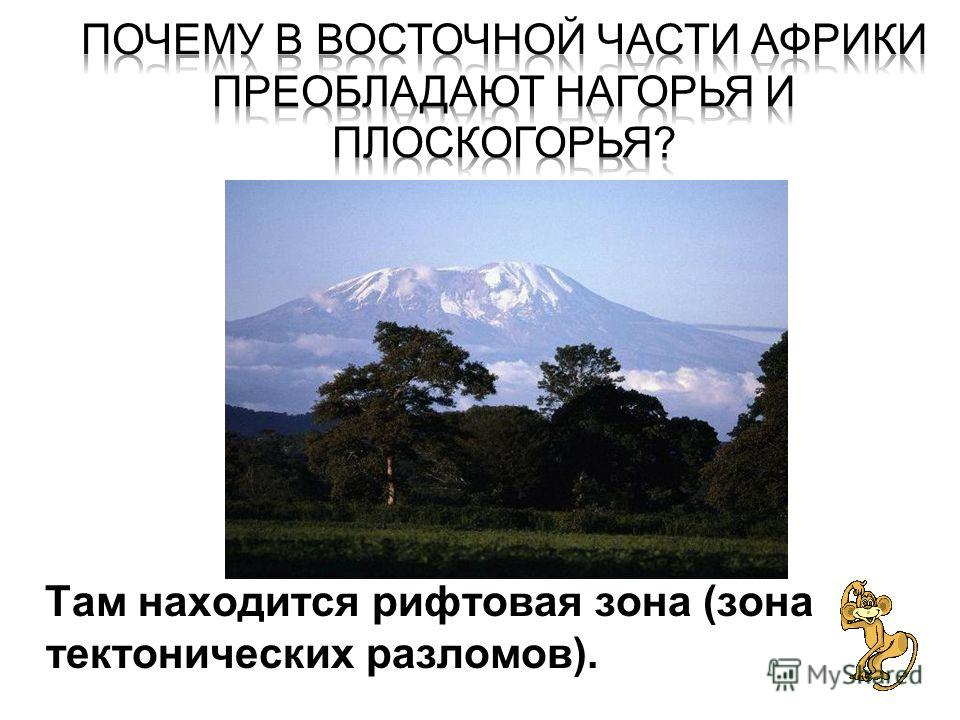 Там находится рифтовая зона (зона тектонических разломов Там находится рифтовая зона (зона тектонических разломов).