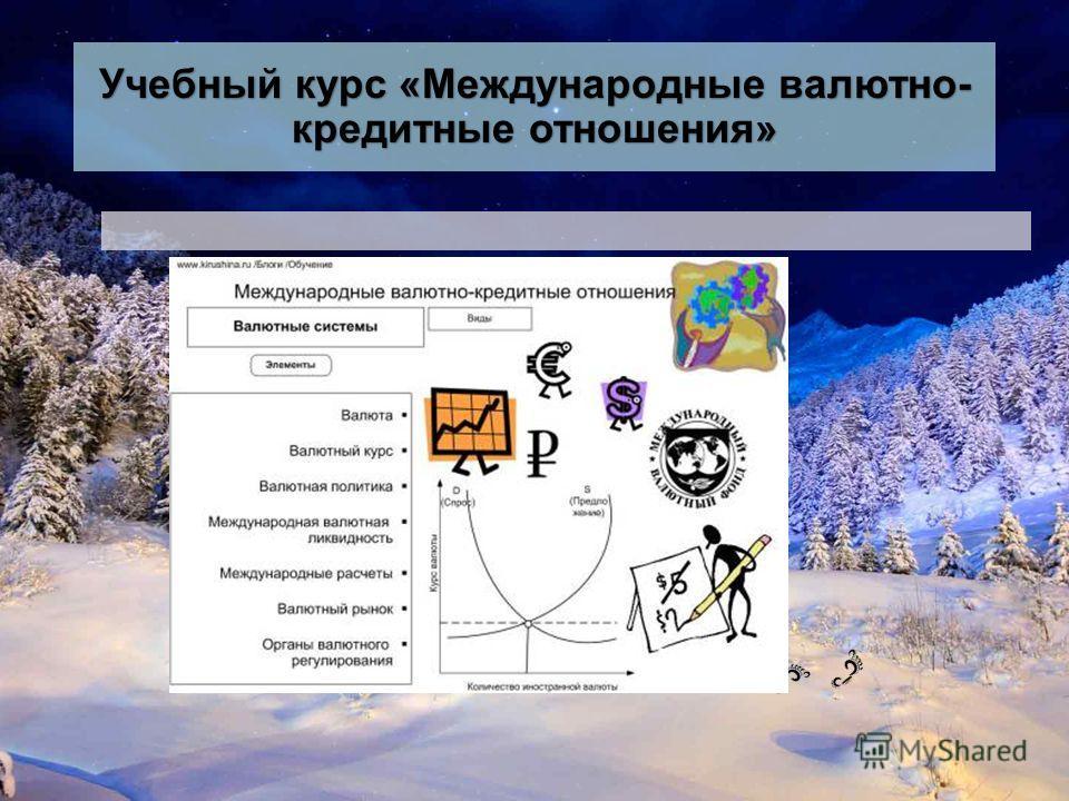 Учебный курс «Международные валютно- кредитные отношения»