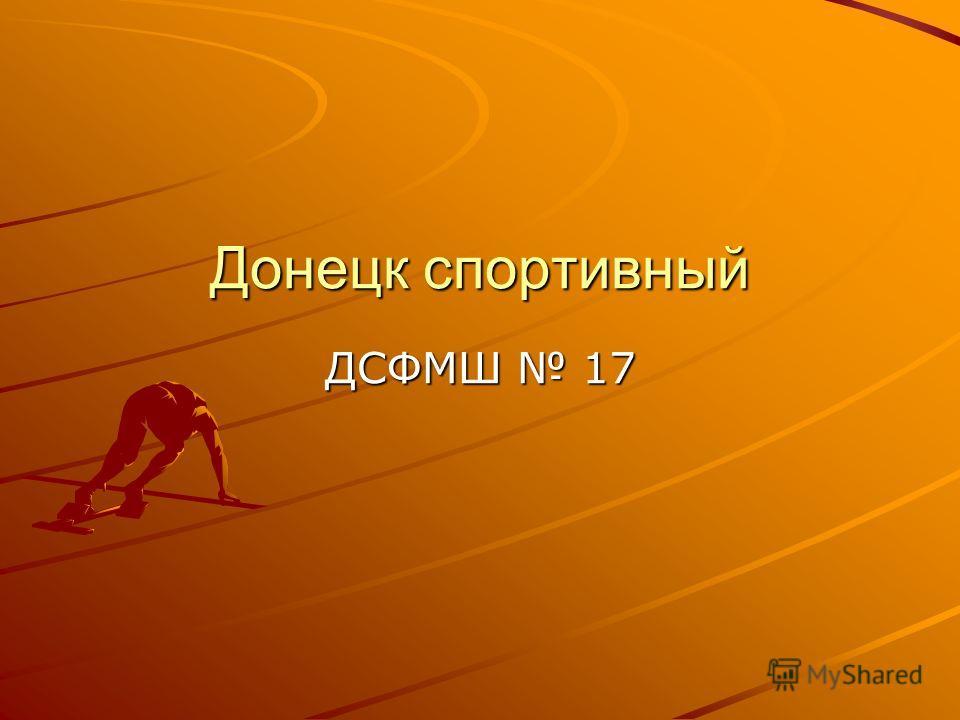 Донецк спортивный ДСФМШ 17