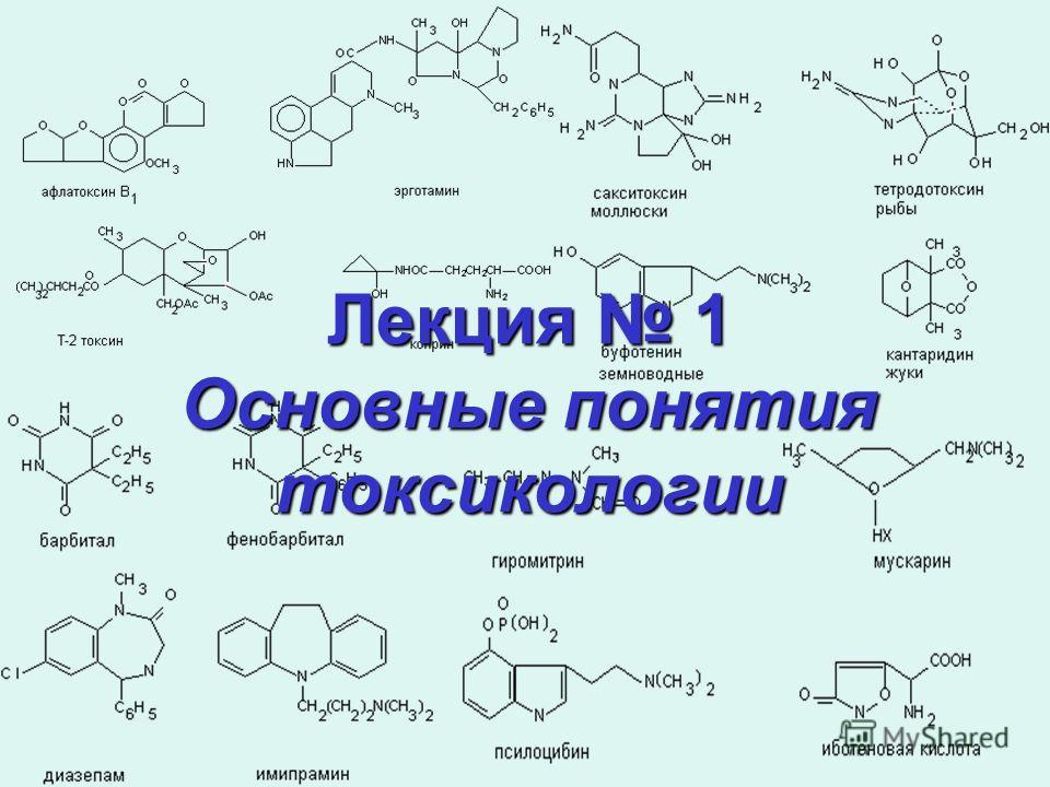 Лекция 1 Основные понятия токсикологии