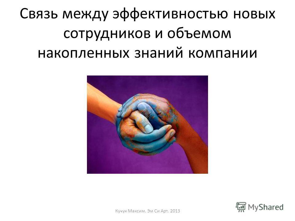 Связь между эффективностью новых сотрудников и объемом накопленных знаний компании Кучук Максим. Эм Си Арт. 2013