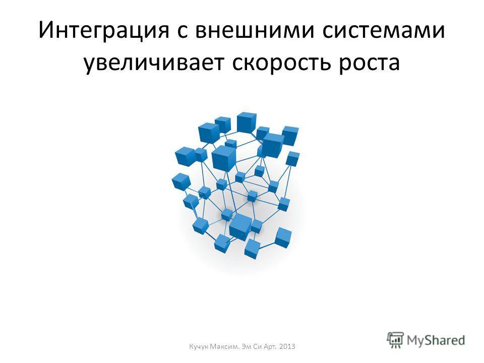 Интеграция с внешними системами увеличивает скорость роста Кучук Максим. Эм Си Арт. 2013