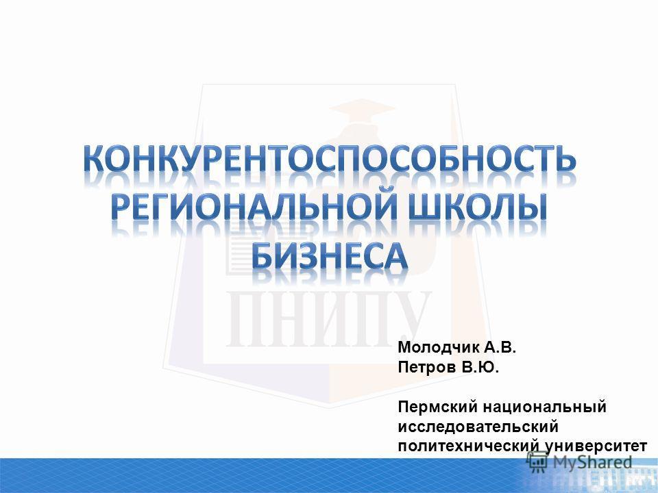 Молодчик А.В. Петров В.Ю. Пермский национальный исследовательский политехнический университет