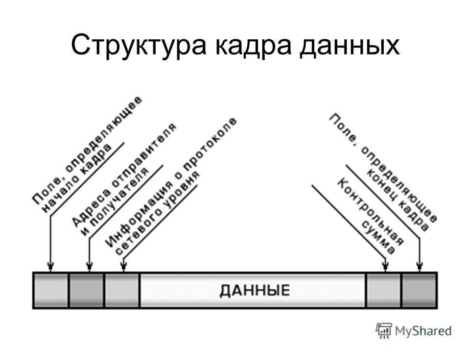 Структура кадра данных