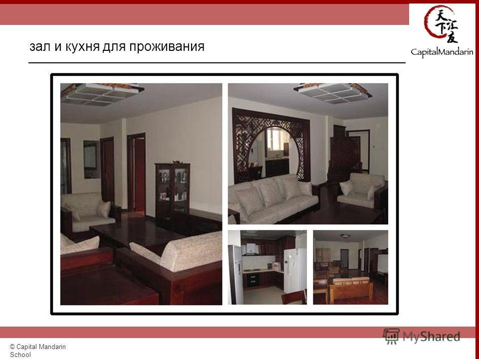 © Capital Mandarin School зал и кухня для проживания
