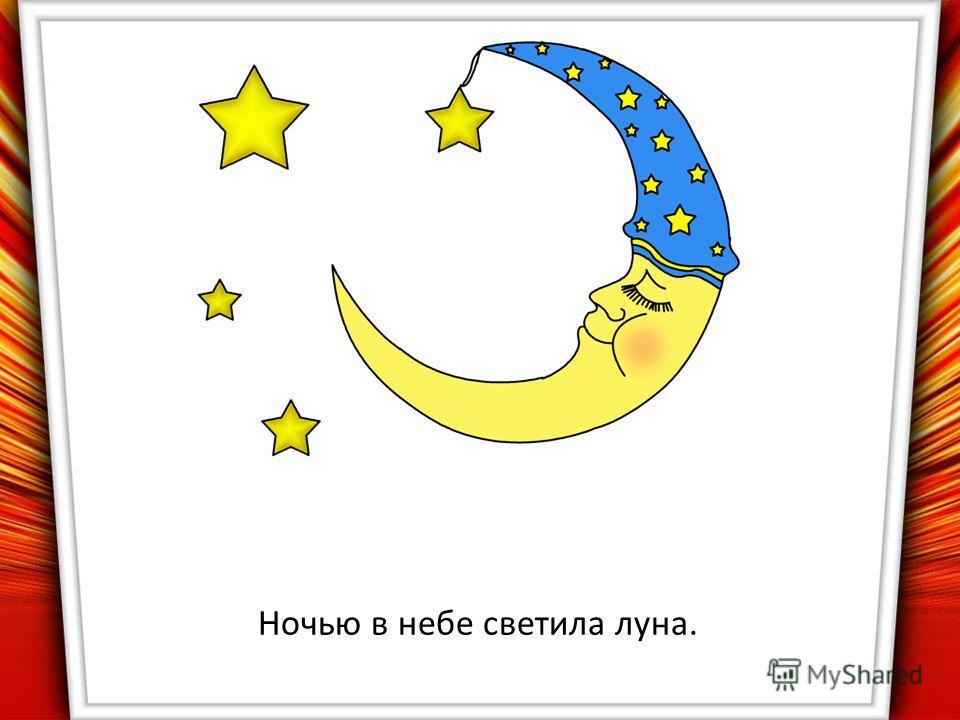 Ночью в небе светила луна.