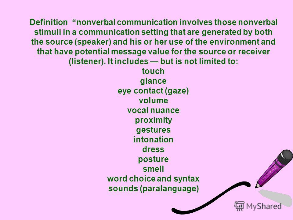 essays on nonverbal communications definition of noise