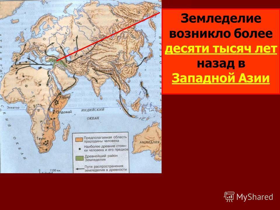 Земледелие возникло более десяти тысяч лет назад в Западной Азии