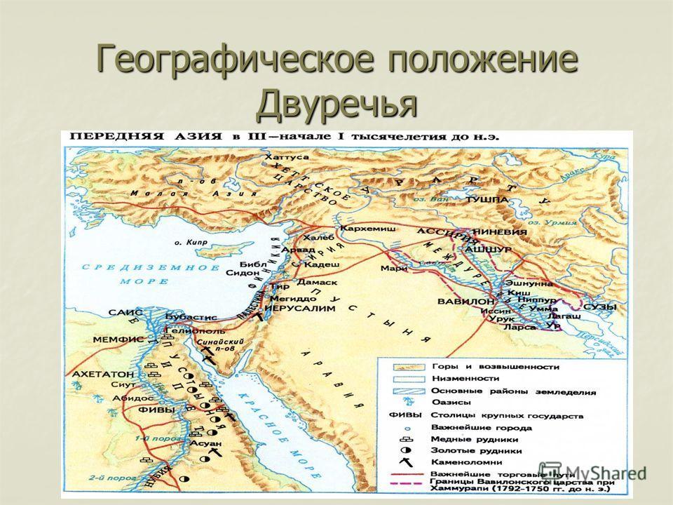 Географическое положение Двуречья
