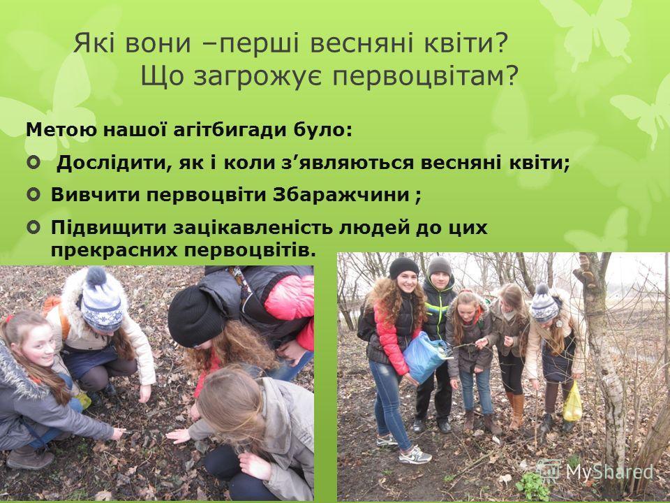 НАШ ДЕВІЗ: Я вірю, знаю, Що ми зможем Усі ми разом: я і ви Урятувати первоцвіти Від екологічної біди!